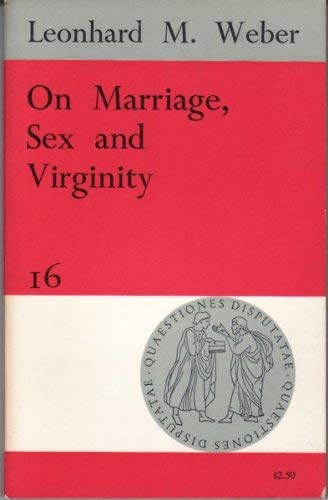 9780855321741: On Marriage, Sex and Virginity