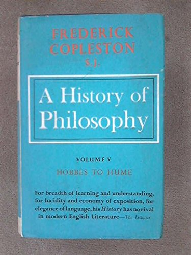 9780855321857: A HISTORY OF PHILOSOPHY. VOL.5. HOBBES TO HUME.