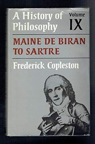 9780855323417: A History of Philosophy, Vol.9: Maine De Biran to Sartre