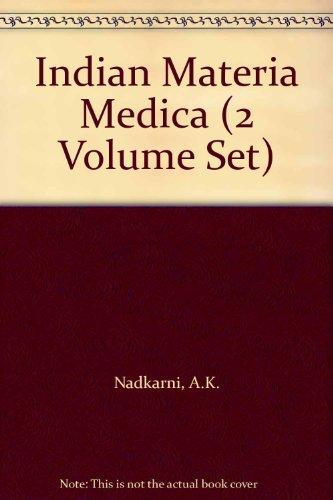 9780855461171: Indian Materia Medica (2 Volume Set)
