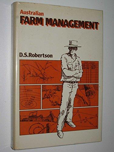 Australian Farm Management: Robertson, D S