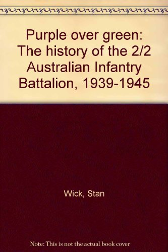 9780855810214: Purple over green: The history of the 2/2 Australian Infantry Battalion, 1939-1945