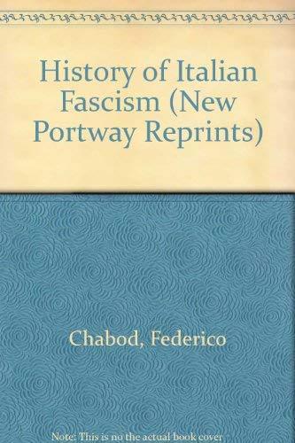 9780855949464: History of Italian Fascism (New Portway Reprints)