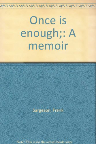 Once is Enough: Sargeson, Frank