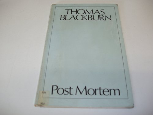 Post mortem (0856190144) by Blackburn, Thomas