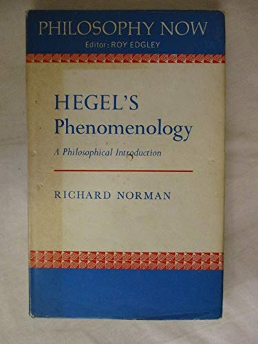 9780856210556: Hegel's Phenomenology: A Philosophical Introduction (Philosophy now)