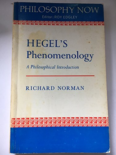 9780856210624: Hegel's Phenomenology: A Philosophical Introduction