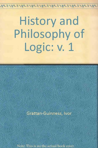 9780856261893: History and Philosophy of Logic (v. 1)