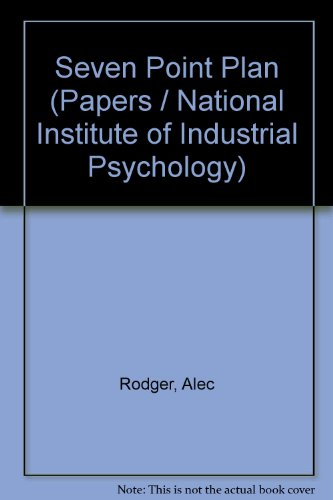 Seven Point Plan (Papers / National Institute: Alec Rodger