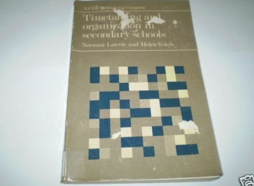 9780856330575: Timetabling and Organization in Secondary Schools