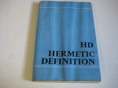 Hermetic Definition (0856350370) by H.D.