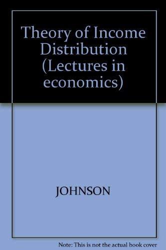 9780856410062: Theory of Income Distribution