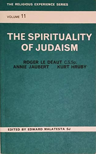 9780856500466: The spirituality of Judaism (Religious experience series)
