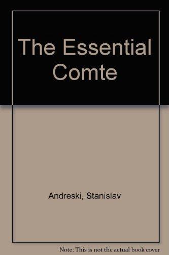 Essential Comte: Stanislav Andreski and