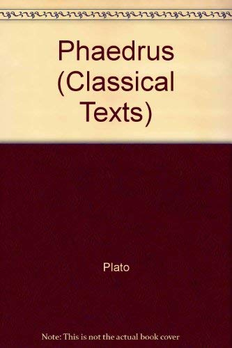 9780856683138: Plato: Phaedrus (Classical Texts/Greek Texts)
