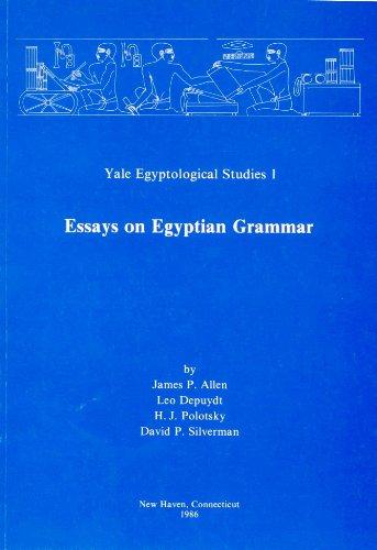9780856684005: Essays on Egyptian Grammar (Egyptology: Yale Egyptological studies)