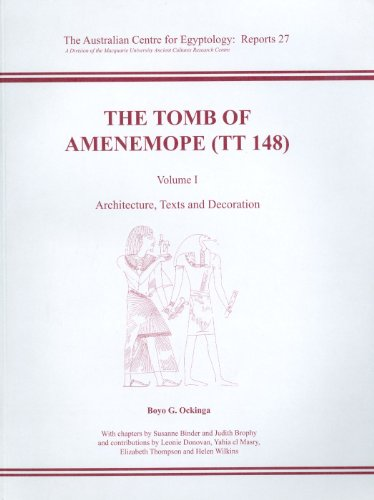 9780856688249: The Tomb of Amenemope at Thebes (TT 148) Volume 1 (ACE Reports)