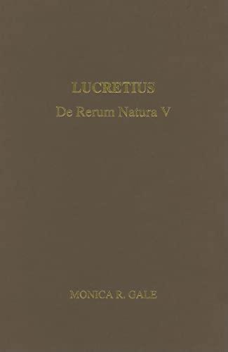 9780856688843: Lucretius: De Rerum Natura V