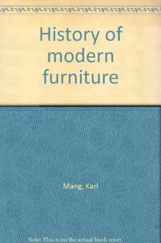 History of Modern Furniture