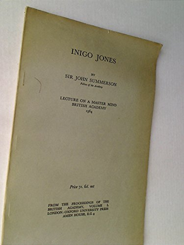 9780856722950: Inigo Jones (Master-Mind Lectures/Henriette Hertz Trust)