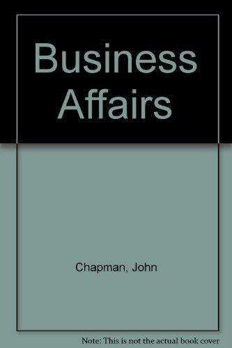 9780856762581: Business Affairs