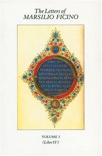9780856830457: The Letters of Marsilio Ficino: 3