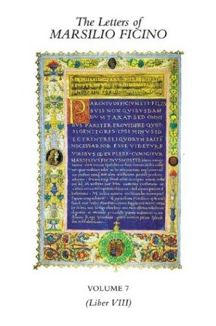 9780856831928: The Letters of Marsilio Ficino: Volume 7