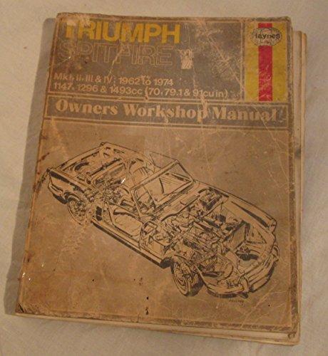 9780856961137: Triumph Spitfire Owner's Workshop Manual