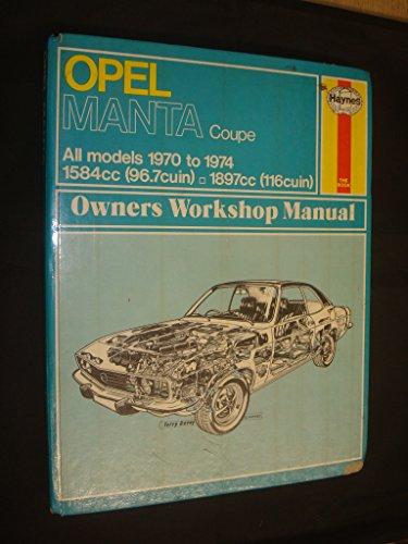 9780856961571 opel manta owner s workshop manual haynes owners rh abebooks co uk BMW Workshop Manual Ford Workshop Manuals