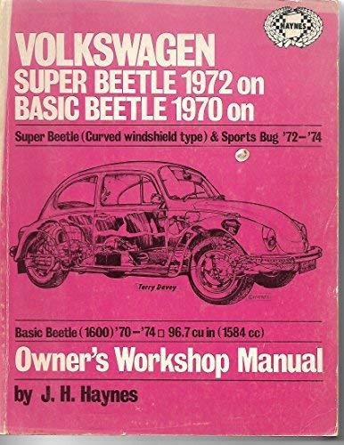 Volkswagen Beetles Owners Workshop Manual: Super Beetle: Haynes, J H;