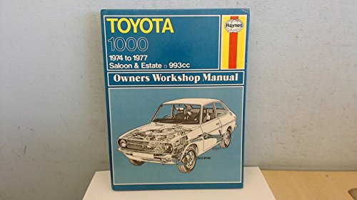 Toyota 1000 Owner's Workshop Manual (9780856963230) by J. H. Haynes; Marcus Daniels