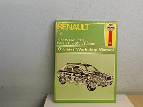 Renault 14 1977 to 1978. 1218cc, Base,: Haynes Manual