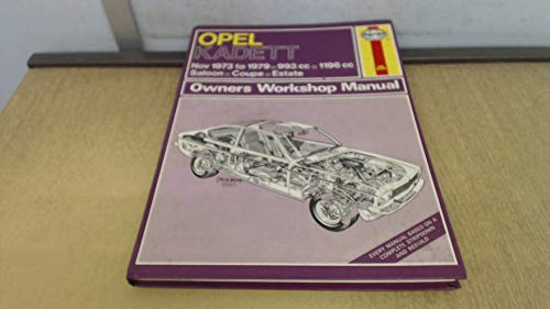 9780856963957: Opel Kadett Owner's Workshop Manual (Service & repair manuals)
