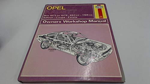9780856963957: Opel Kadett Owner's Workshop Manual (Service & repair manuals)