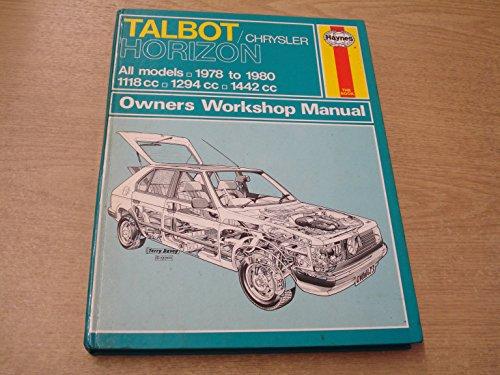9780856964732: Talbot/Chrysler Horizon Owner's Workshop Manual