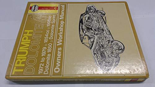 9780856965029 triumph dolomite and dolomite sprint owner s workshop rh abebooks co uk Triumph TR8 Triumph Motor Company