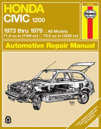 9780856965845: Haynes Honda Civic 1200, 1300 Manual No. 160: 1973-1979 (Haynes Repair Manuals)