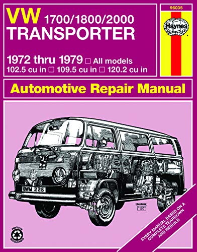 9780856966149: Volkswagen Transporter 1700, 1800, 2000c.c., Owner's Workshop Manual (Service & repair manuals)
