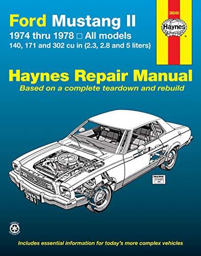 9780856966293: Ford Mustang II Automotive Repair Manual: 1974 Thru 1978: All Models (USA service & repair manuals)