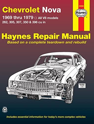 9780856966934: Chevrolet Nova Automotive Repair Manual, 1969-1979