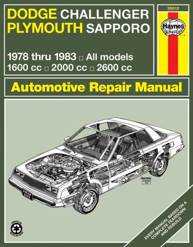 Dodge Challenger Plymouth Sapporo: Owners Workshop Manual, 1978 Thru 1983, All Models, 1600Cc, ...