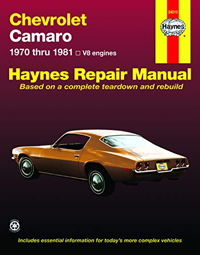 9780856968815: Chevrolet Camaro, 1970-81 (Haynes Repair Manuals)