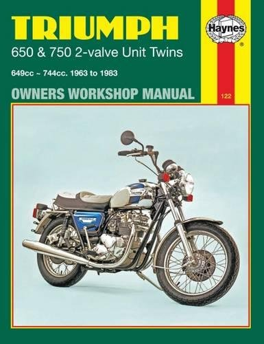 9780856968907: Triumph 650 and 750 2-valve Twins Owners Workshop Manual, No. 122: '63-'83