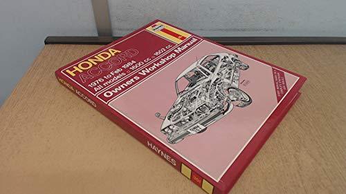 HONDA ACCORD 1976-84 OWNER'S WORKSHOP MANUAL (SERVICE: J.H. HAYNES, IAN