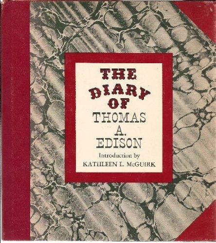 9780856990175: The diary of Thomas A. Edison