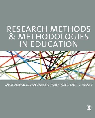 9780857020390: Research Methods and Methodologies in Education