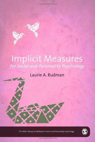 9780857024022: Implicit Measures for Social and Personality Psychology (The SAGE Library of Methods in Social and Personality Psychology)