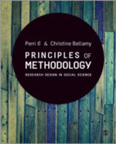 9780857024732: Principles of Methodology: Research Design in Social Science