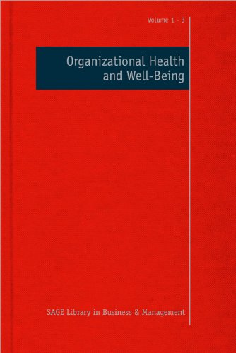 9780857025555: Organizational Health and Well-Being (SAGE Library in Business and Management)