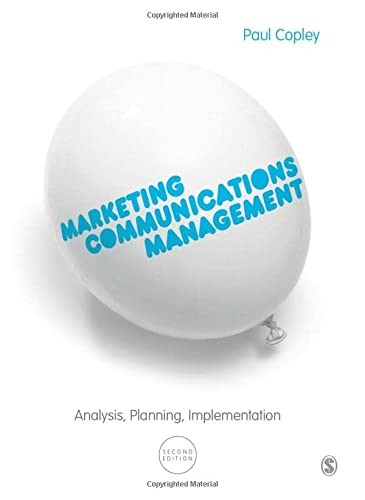 9780857027870: Marketing Communications Management: Analysis, Planning, Implementation